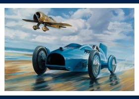 Lords of speed, Bluebird 1933, carte postale