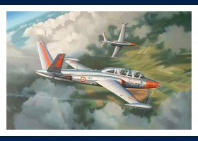 Fouga Magister carte postale