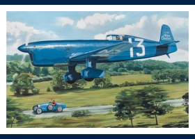 Caudron C450 coupe Deutsch carte postale