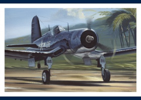 Corsair Pappy Boyington carte postale 3