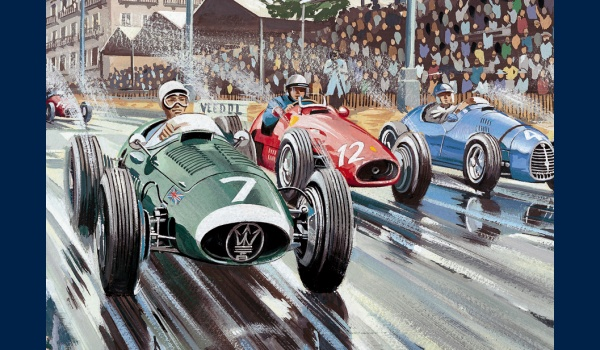 Grand Prix de Bordeaux 1954 poster detail