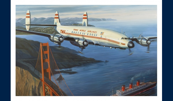 Lockheed Constellation TWA carte postale