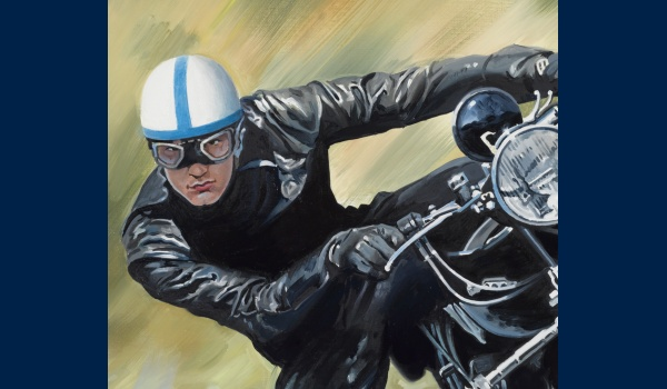 John Surtees sur Vincent detail 1