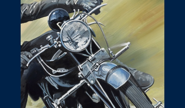 John Surtees sur Vincent detail 2
