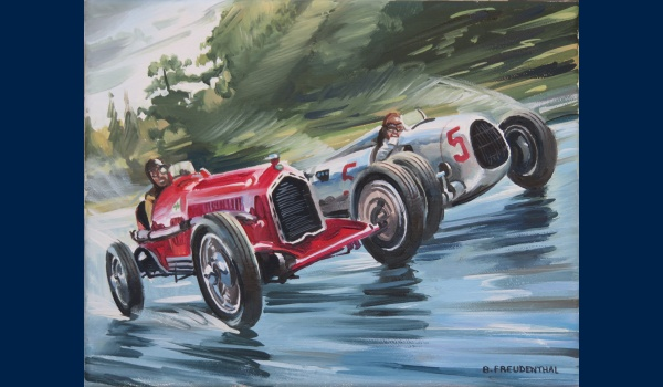 Alfa Romeo P3 vs Auto Union type C