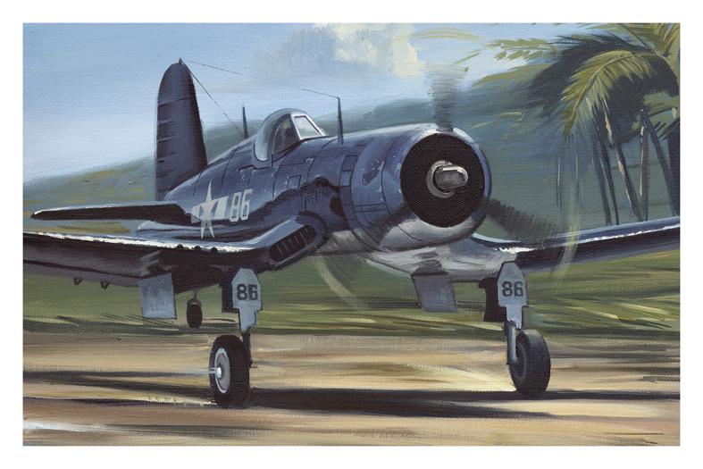 [Revell] Corsair ( Fini) Corsair-faud-1decollage