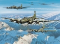 "Boeing B-17E ""Wolf Pack"" - Huile sur Toile"