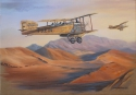 Breguet XIV above the Maroccan desert - oil on canvas
