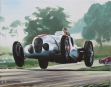 Donington Grand Prix 1937 - oil on canvas