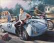 """Won't you come with me ?"" - (la Porsche de James Dean) - huile sur toile"