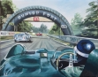 """Le Mans 1955, onboard with Mike Hawthorn"" - huile sur toile"