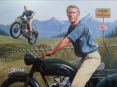 """Steve McQueen, the Great Escape"" - oil on canvas"