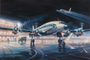 Starliner air France at Orly - oil on canvas