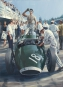 """Rock'n Roll Pit Stop"", Stirling Moss - oil on canvas"