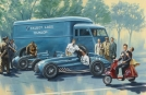 """Sweet fifties"", Talbot Team at Monza - oil on canvas"