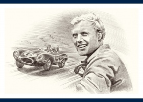 Mike Hawthorn portrait