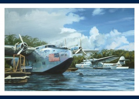 Boeing 314, Pacific Clipper carte postale