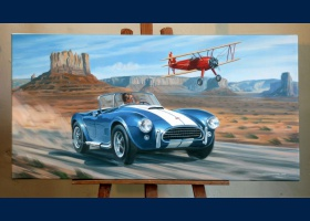 Ac Cobra reproduction sur toile