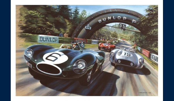 Le Mans 1955, Jaguar Type D, Mike Hawthorn