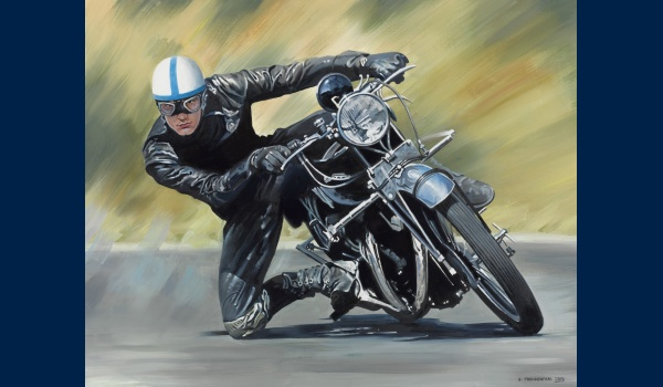 John Surtees sur Vincent