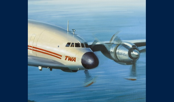 Lockheed Constellation TWA detail 1
