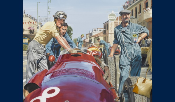 Grand Prix de pescara 1957 Bâche detail 2