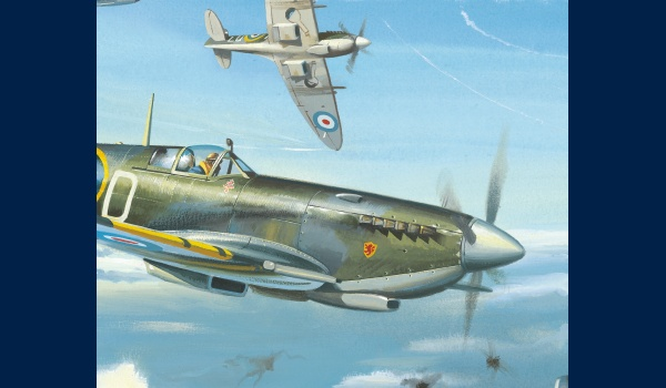 Spitfire MK IX, Pierre Clostermann, detail 1