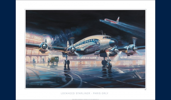 Starliner Air France Orly poster