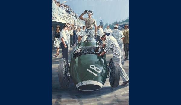 Stirling Moss Monza 1957