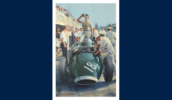 Stirling Moss, Grand Prix de Monza 1957, carte postale